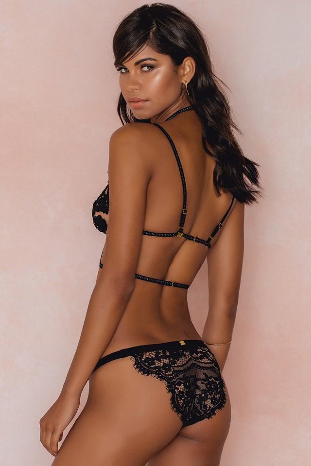 Rylee Rose Bondage Bralette Nude/Black