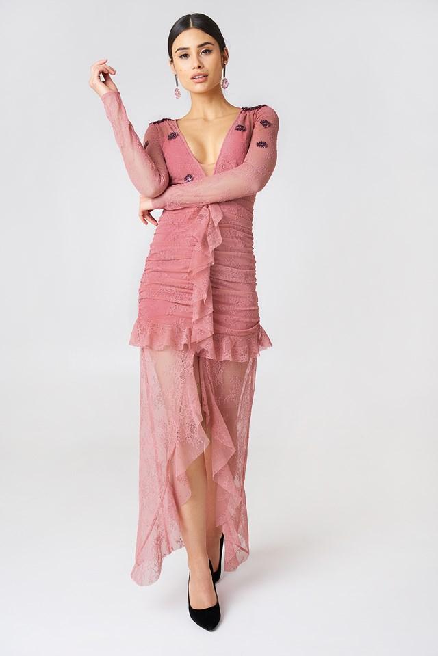 Daisy Lace Midi Dress NA-KD.COM