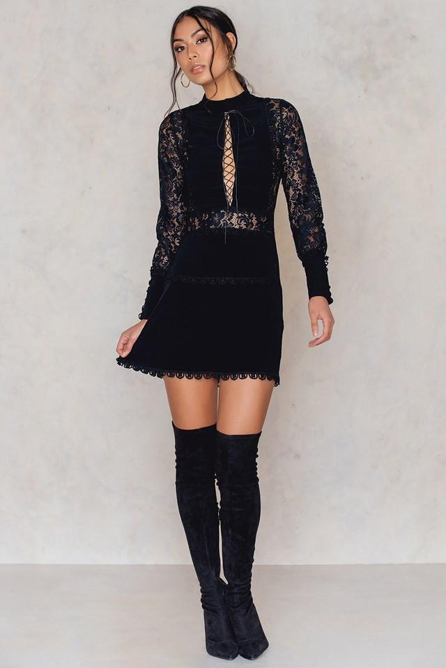 Lola Rose Mini Dress Black
