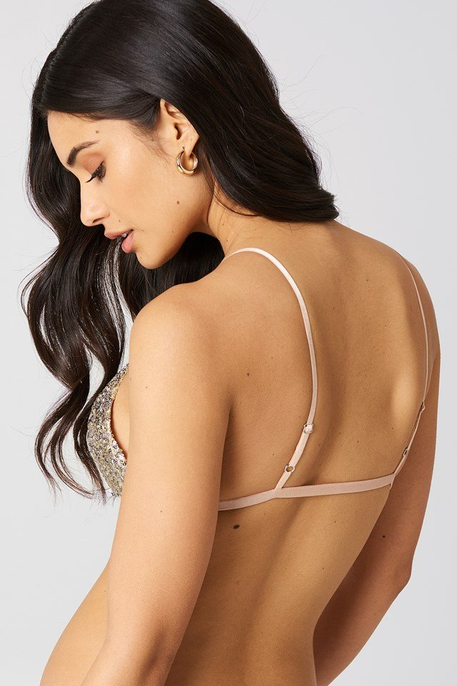 Eloise Sequin Bra Top Champagne