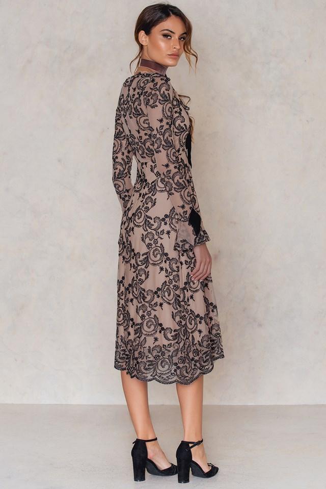 Clemence Midi Dress Tiramisu