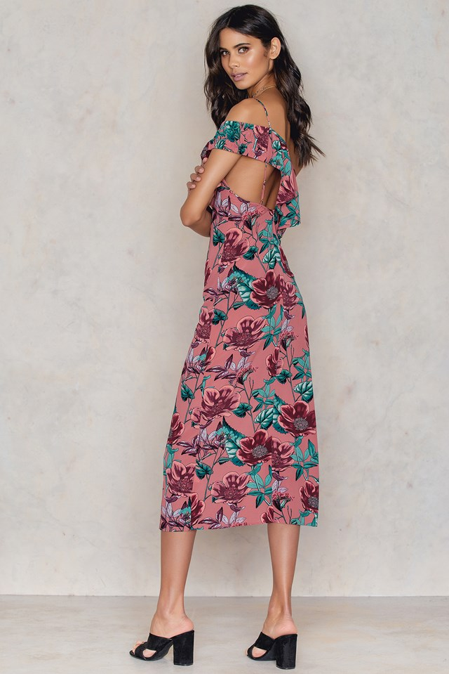 Flamenco Maxi Dress Pink Flamenco