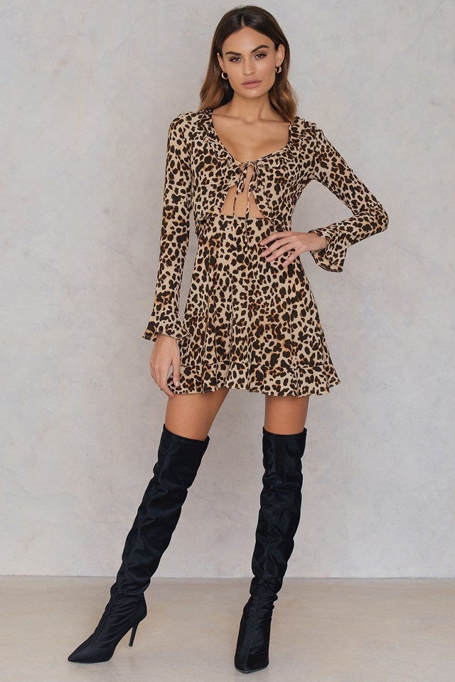 Sukienka w cętki Cheetah