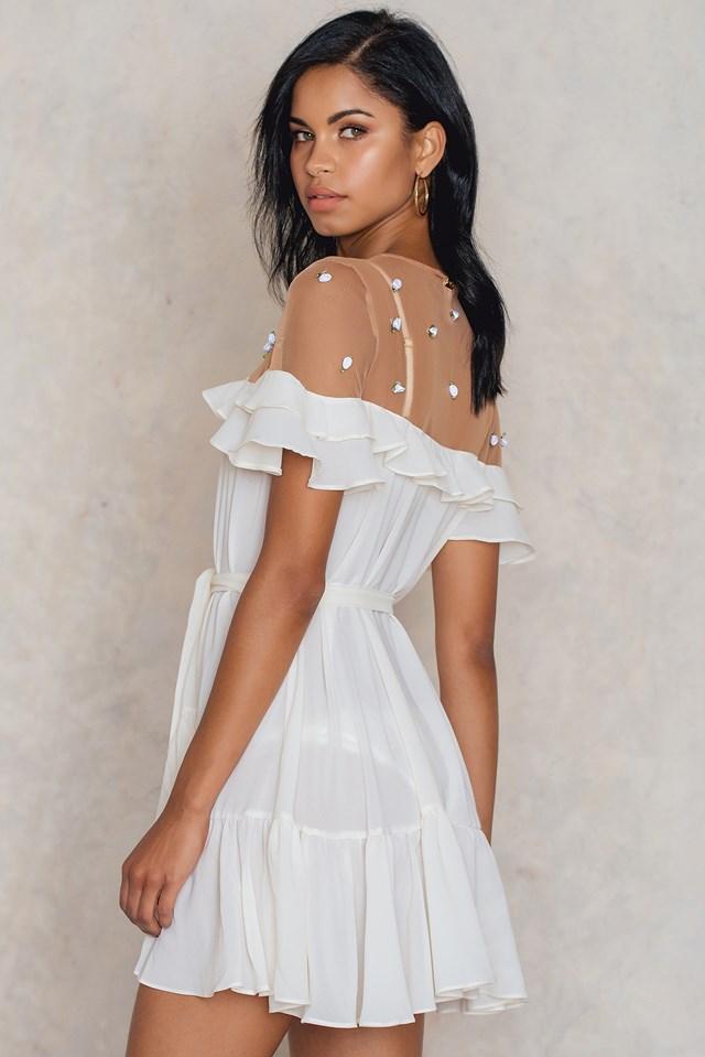 Little Rossette Robe Ivory