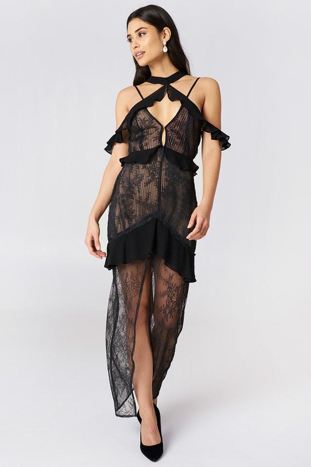 Sukienka z odkrytymi ramionami Margot Black