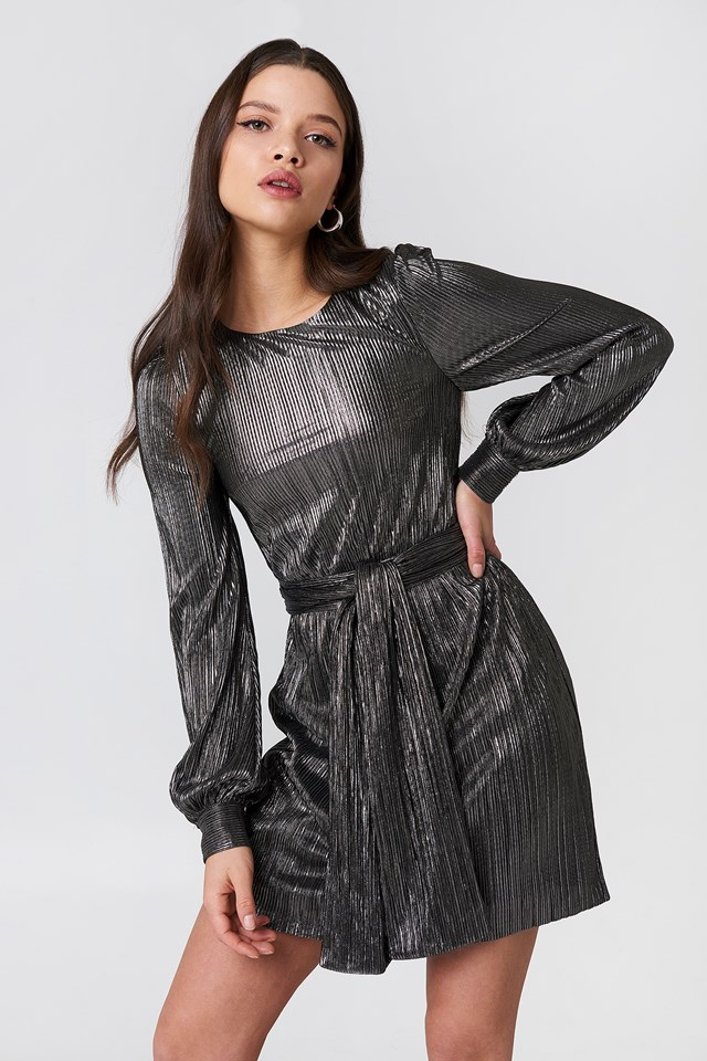 Marion Bell Sleeve Mini Dress Gunmetal