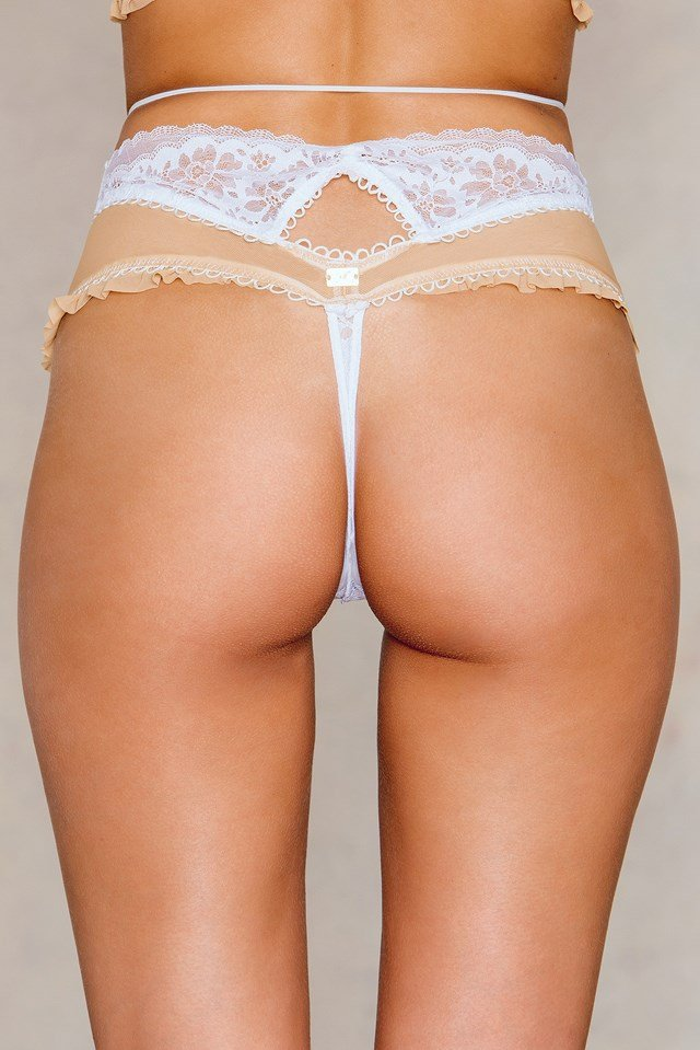 Moonshadow High Cut Thong Ivory