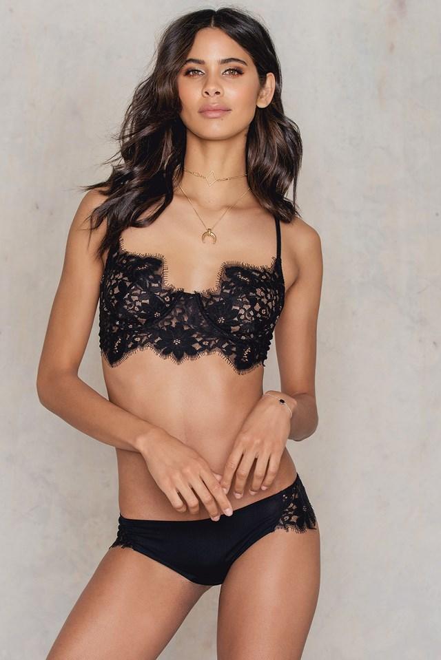 Sage Lace Panty Black