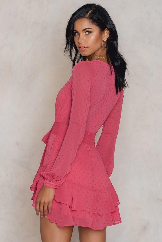 Sukienka Mini Tarta długi rękaw Flamingo