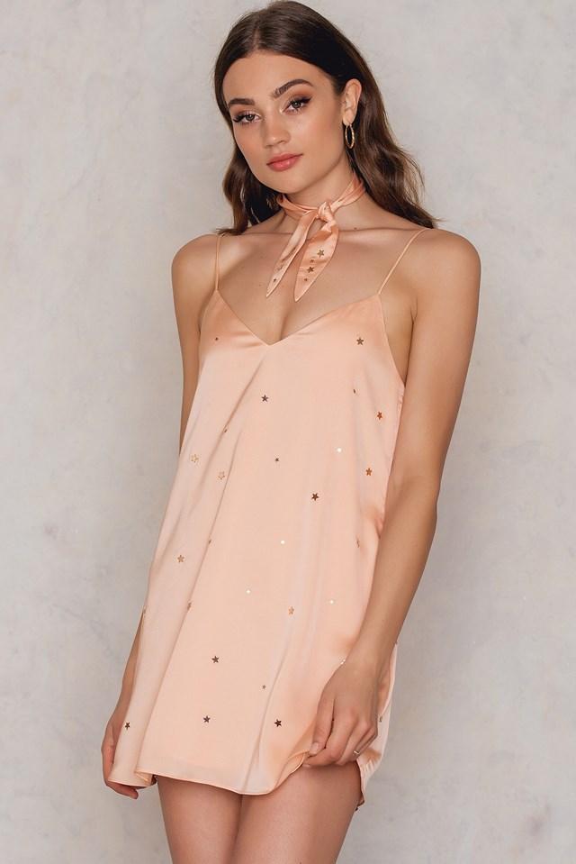 Twinkle Slip Dress Blush