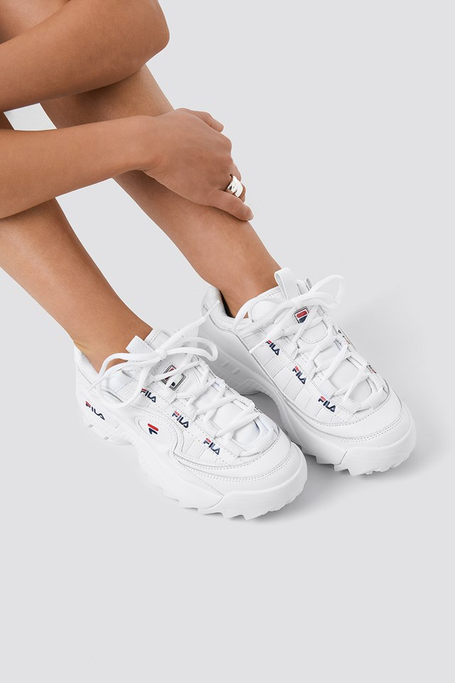 D-Formation Sneaker White/Navy/Red