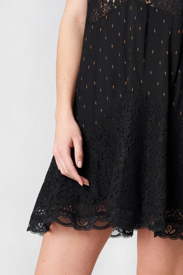 Any Party Slip Dress Black