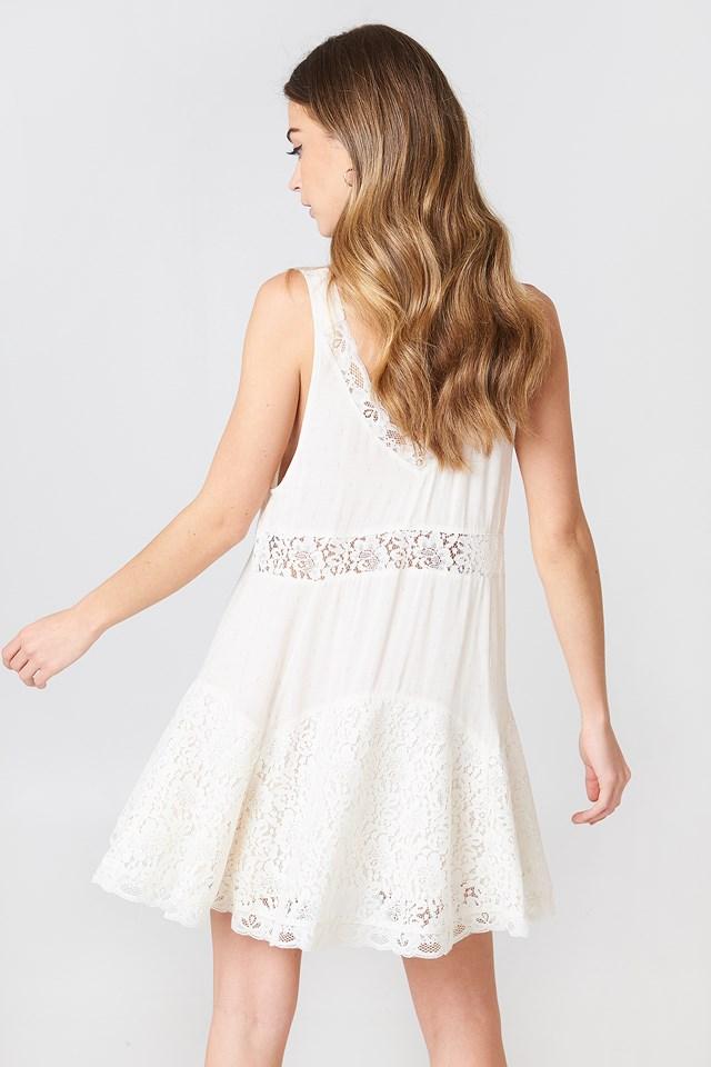 Any Party Slip Dress Ivory