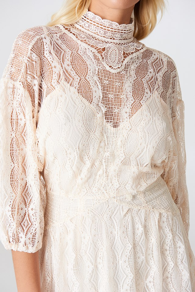 Bittersweet Mini Dress Neutral