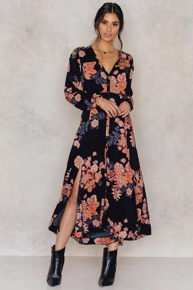 Miranda Print Dress Black Combo