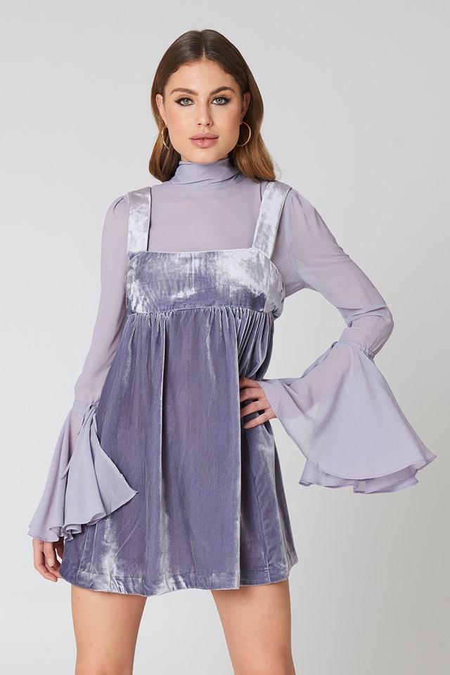Counting Stars Mini Dress Lavender