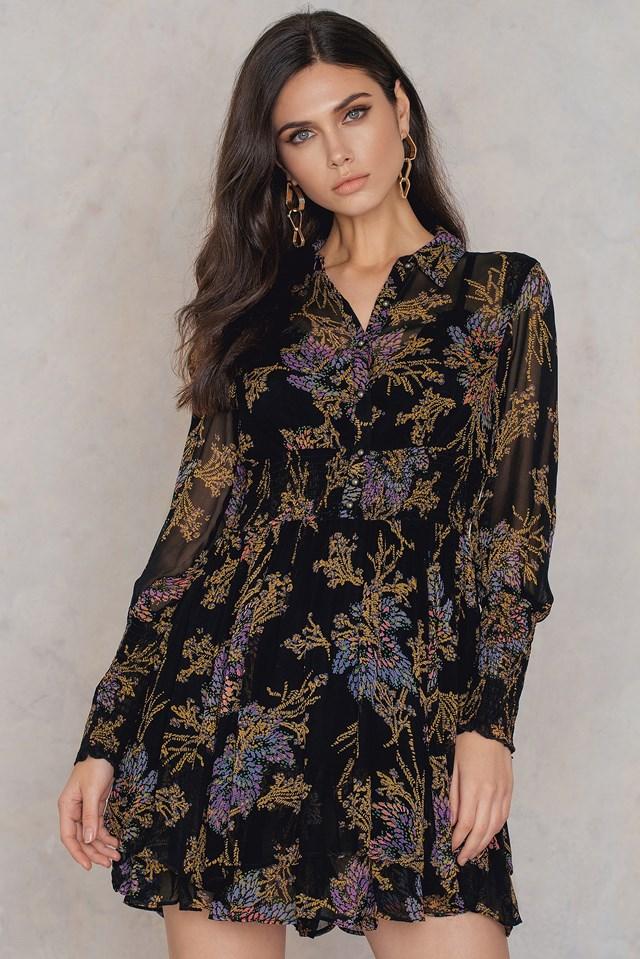 Fake Pretend Mini Dress Black Combo