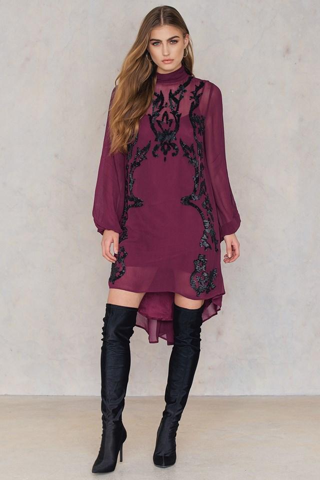 Just Like Heaven Mini Dress Wine