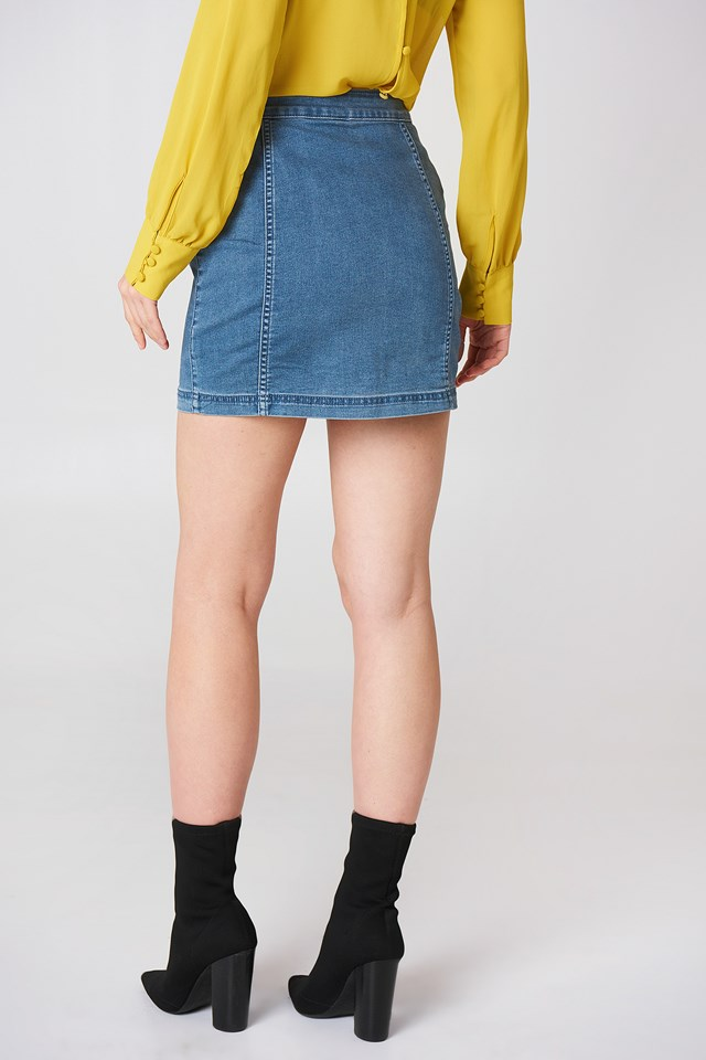 Little Daisies Mini Skirt Blue