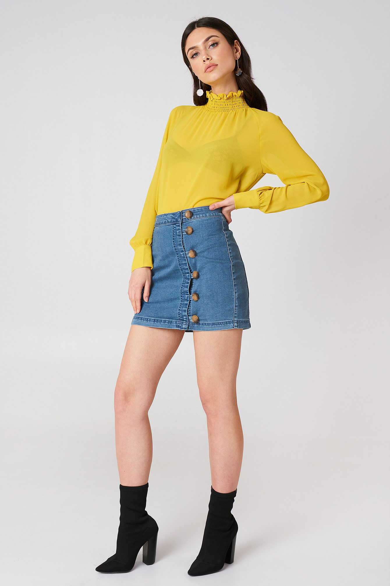 Little Daisies Mini Skirt NA-KD.COM