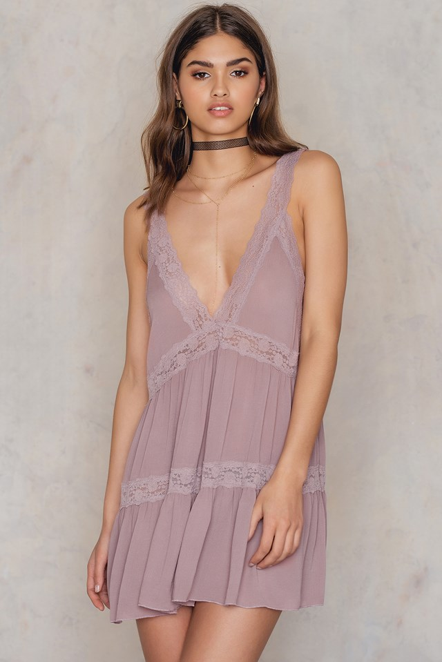 Look Of Love Slip Dress Rose