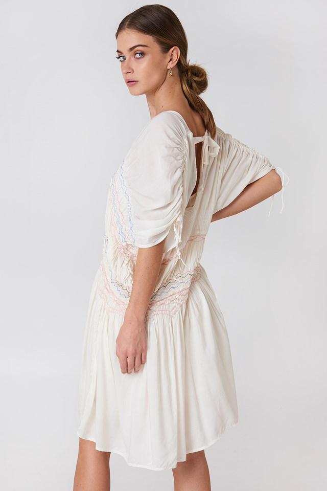 Love Of The Run Midi Dress Ivory