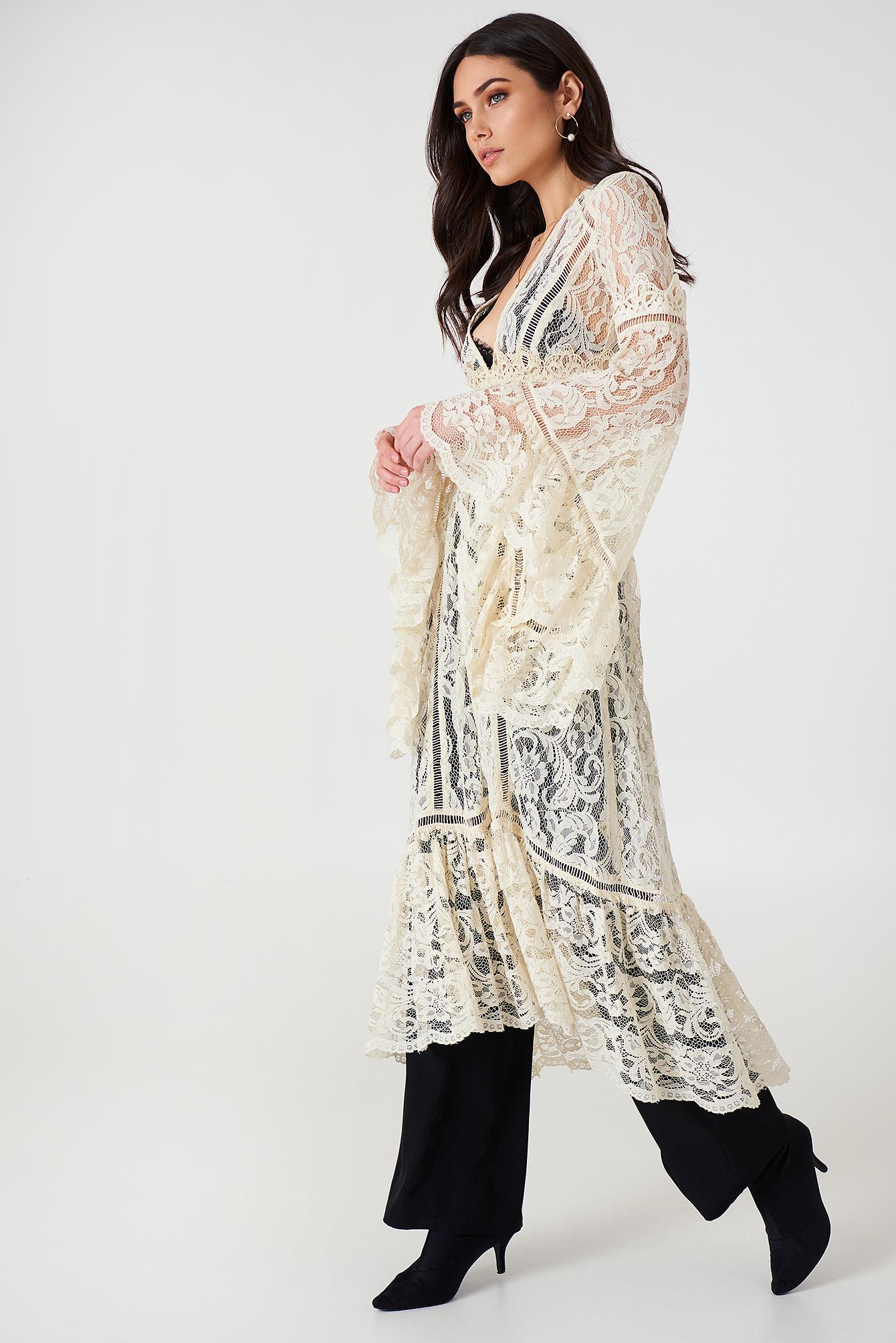 Rhiannon Lace Kimono NA-KD.COM