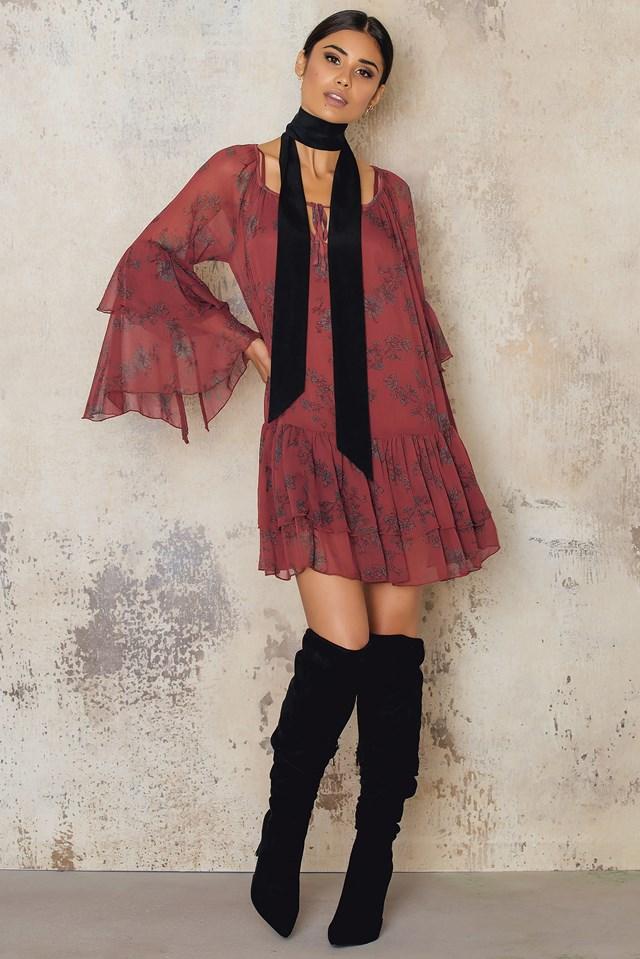 Sunsetter Printed Mini Dress Red Comb