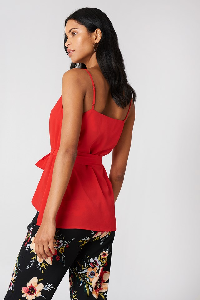 Dalma Strappy Top Shanghai Red