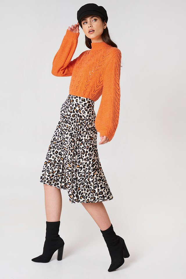 Heidi Leopard Skirt Cadmium Yellow Leopard
