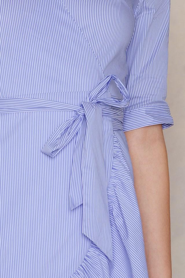 High Pressure Dress Light Blue Stripe