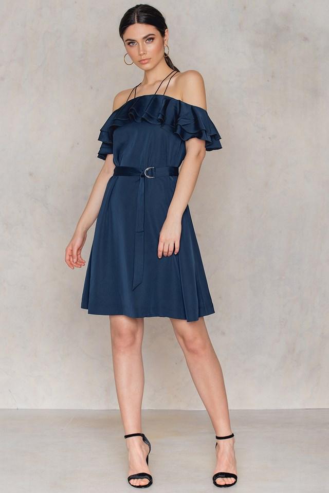 Just A Girl Dress Black Iris Blue