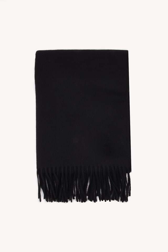 Lana Scarf Anthracite Black