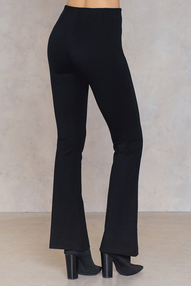 Pattern Trousers Jet Black