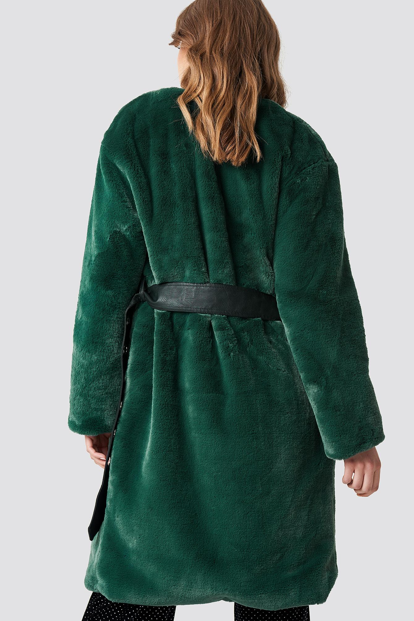 Big Fluffy Belted Coat NA-KD.COM