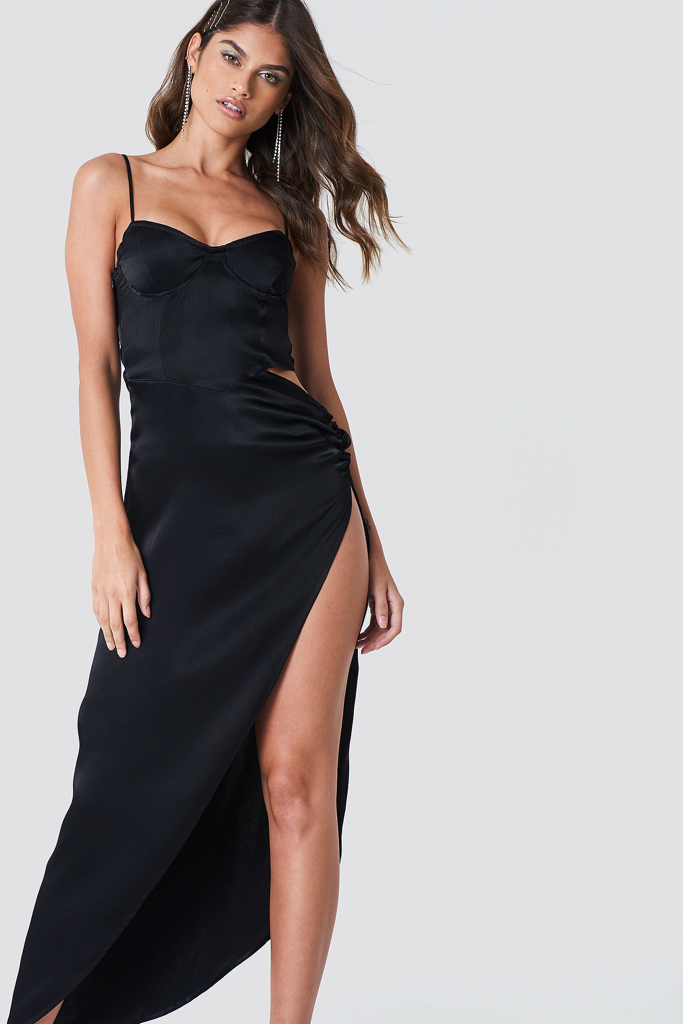 Cut Out Long Slit Dress NA-KD.COM
