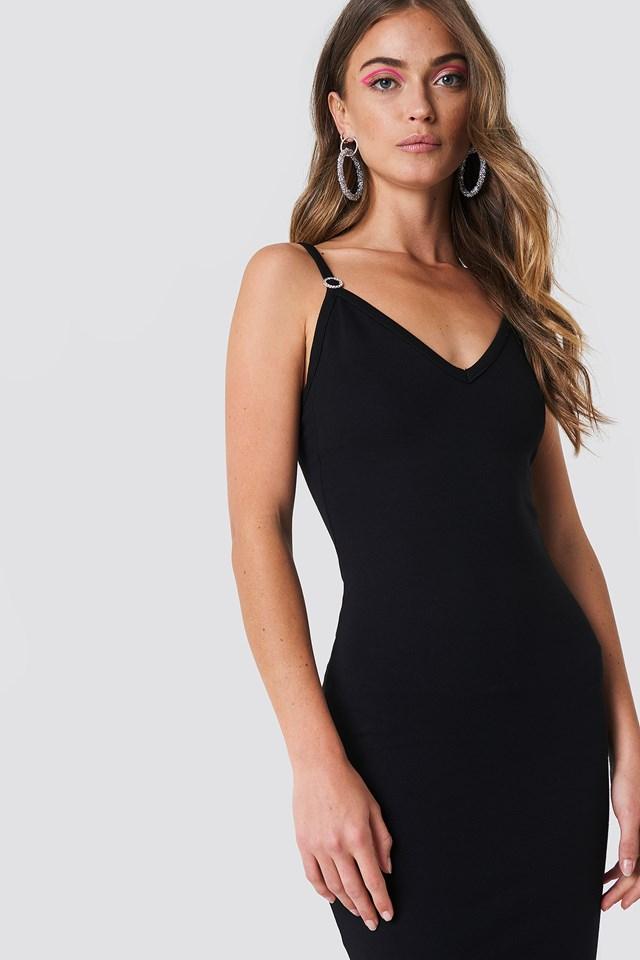 Sukienka midi z głębokim dekoltem NA-KD.COM