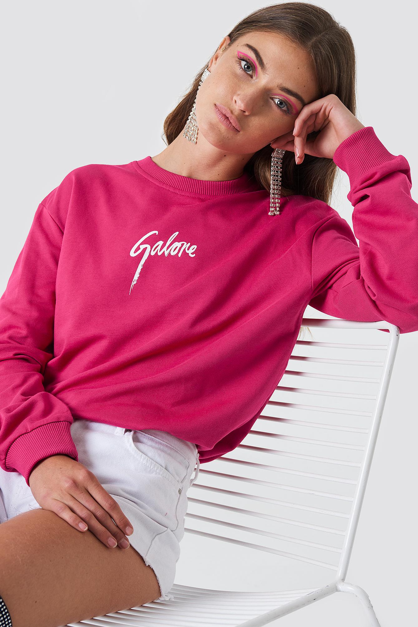 GALORE X NA-KD Galore Sweatshirt - Pink