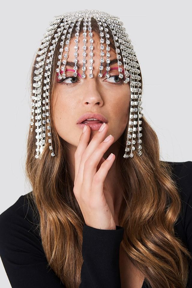 Biżuteria na włosy ze strassu Silver