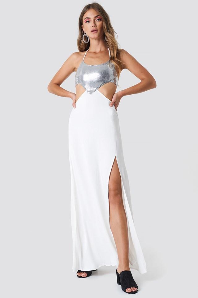 Halterneck Cut Out Maxi Dress Virgin