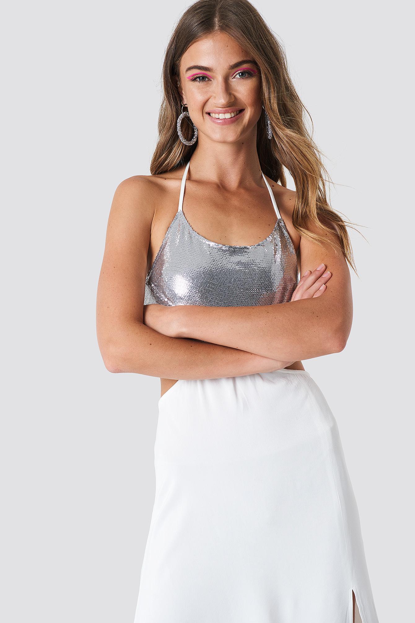 Halterneck Cut Out Maxi Dress NA-KD.COM