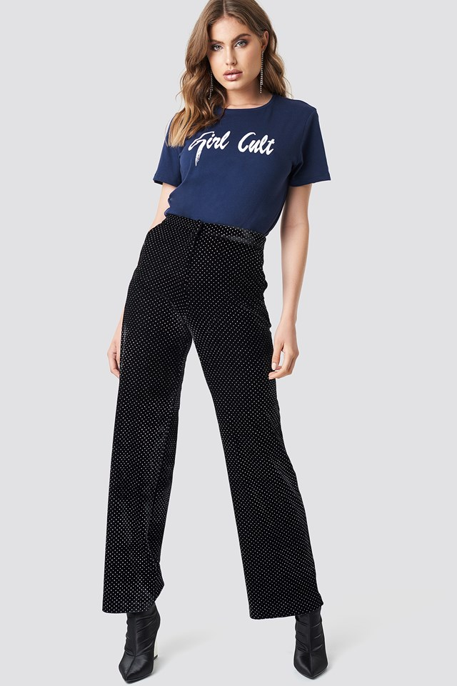 Oversized Girl Cult Tee Blue