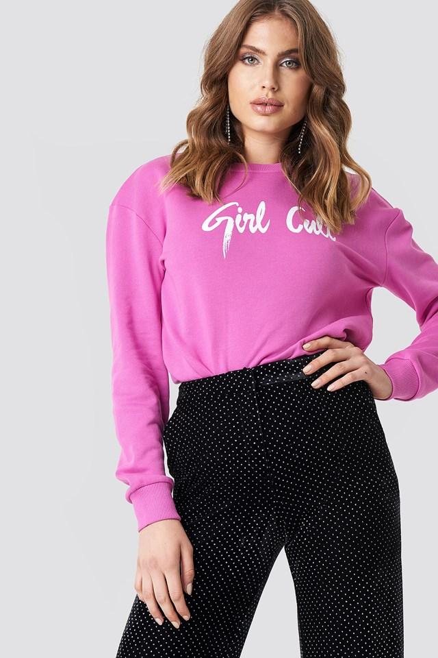 Oversized Girl Cult Sweatshirt Strong Pink