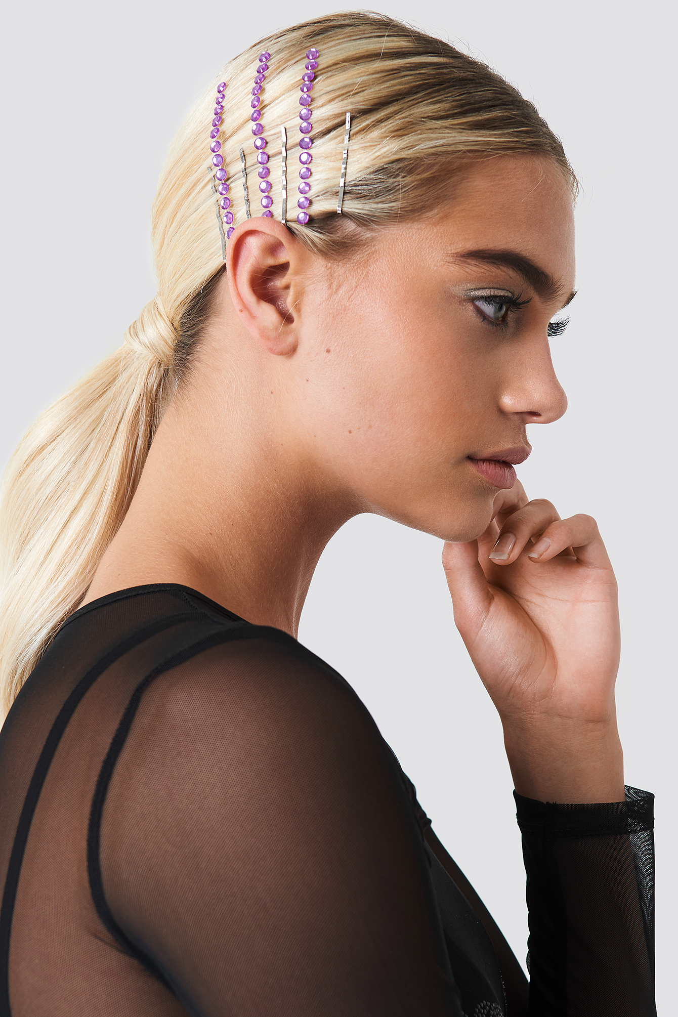 galore x na-kd -  Hair Strass - Purple