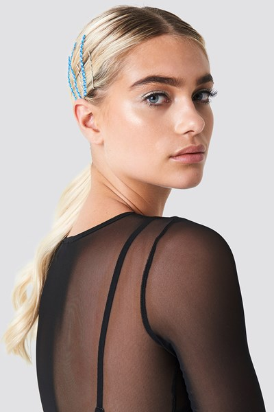 galore x na-kd -  Hair Strass - Blue