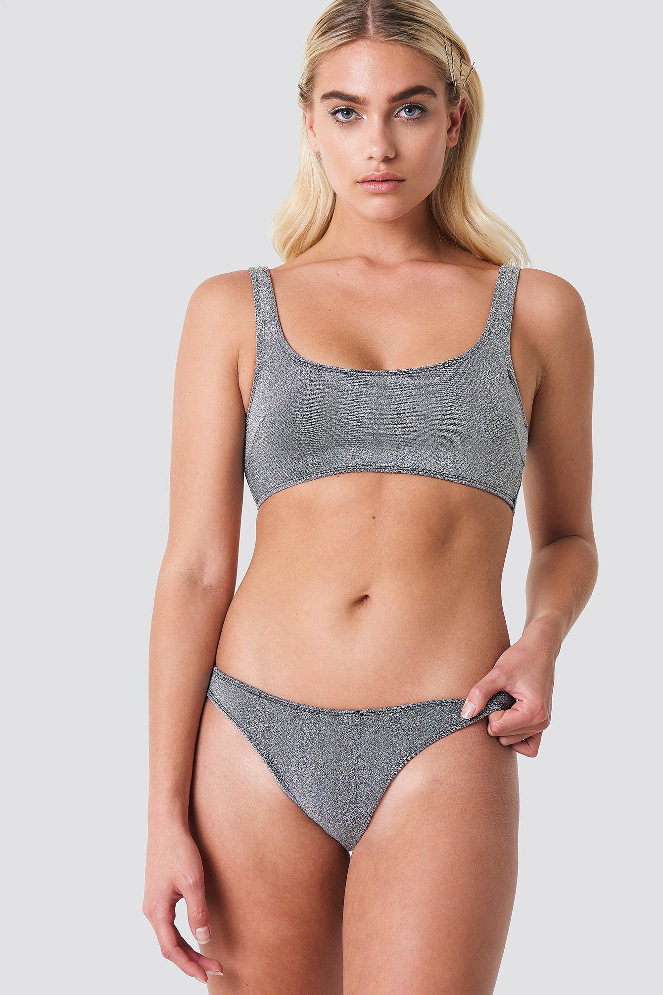 Lurex Bikini Bottom NA-KD.COM