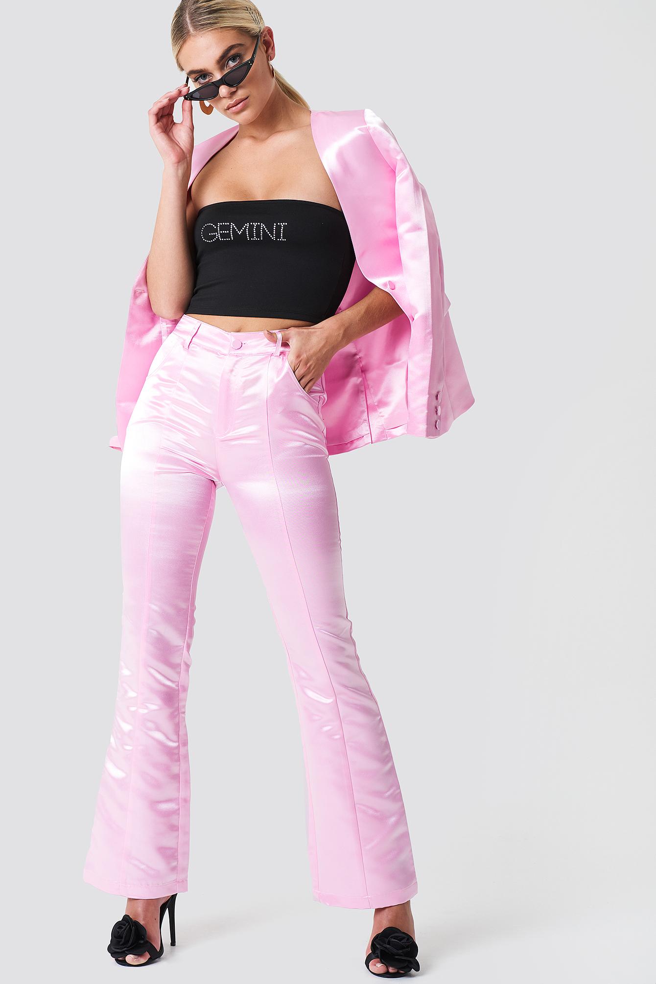 Shiny Bootcut Pants NA-KD.COM