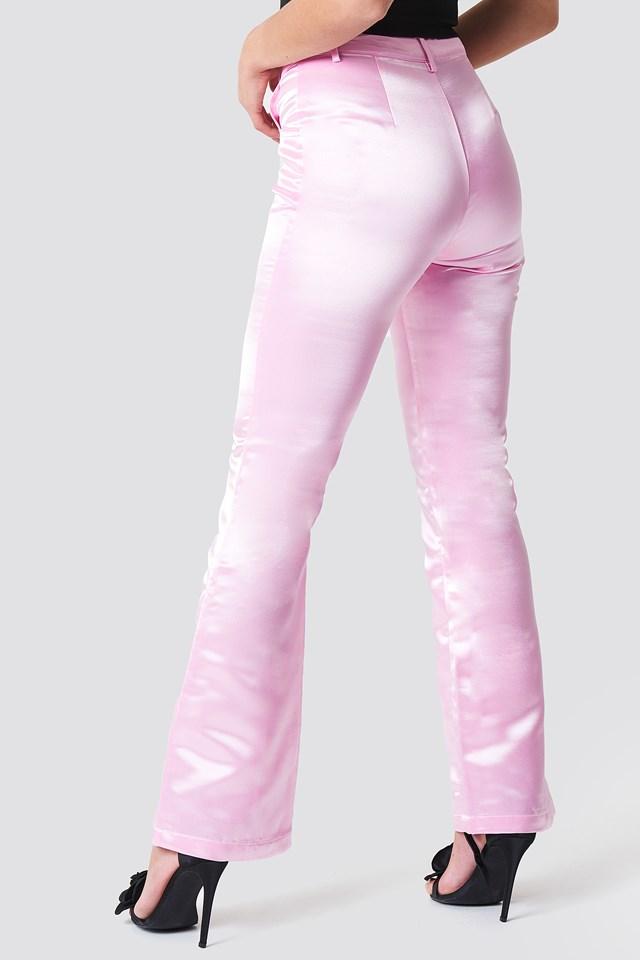 Shiny Bootcut Pants Flamingo