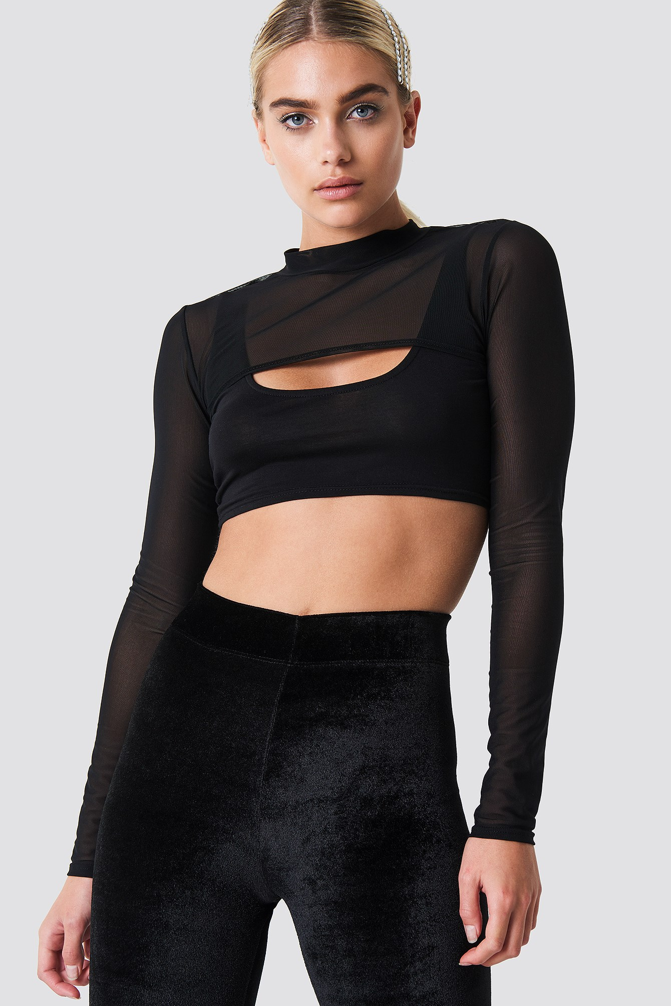 Two In One Mesh Top NA-KD.COM