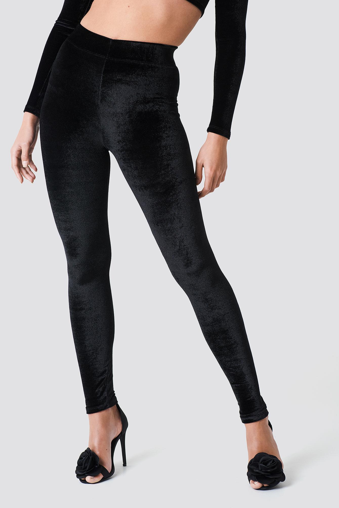 Tight Velvet Pants NA-KD.COM